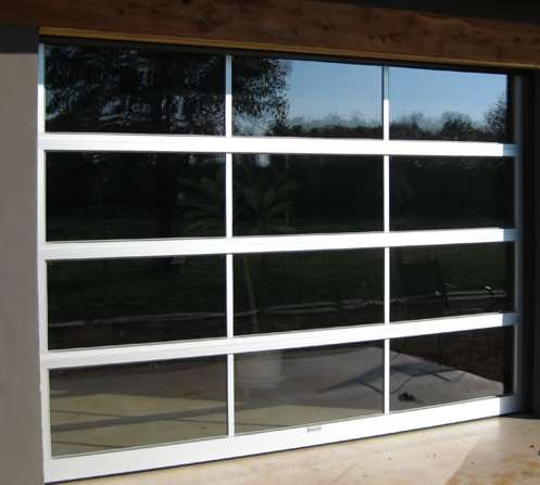 Aluminum glass doors overhead door for Sectional glass garage door