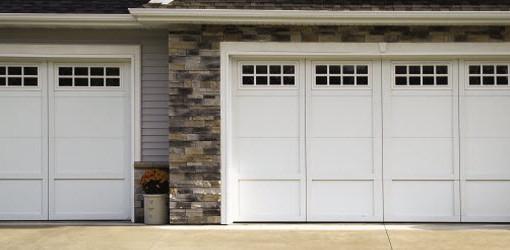 courtyard garage doors 161b white