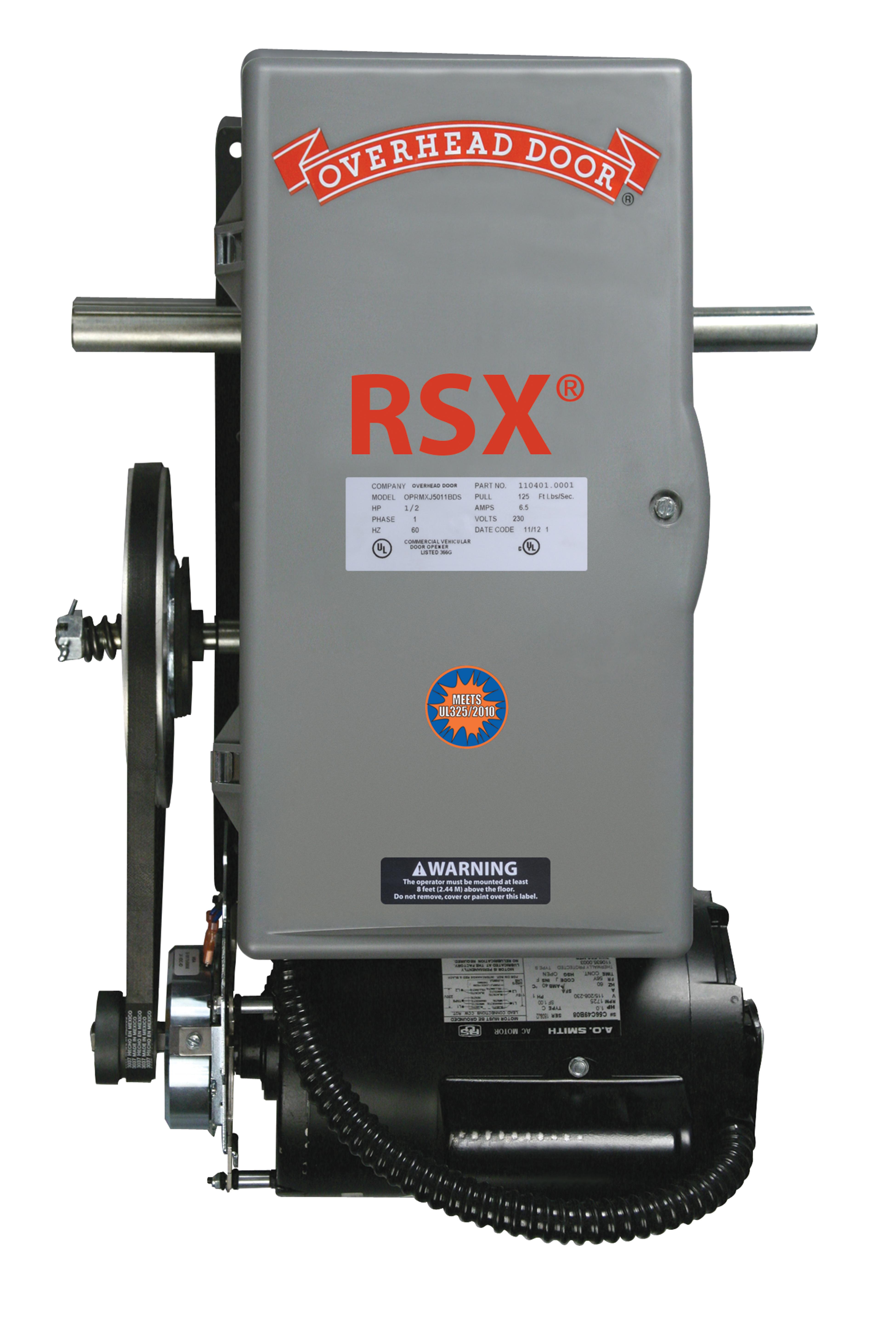Rsx 174 Standard Duty Commercial Operator Overhead Door